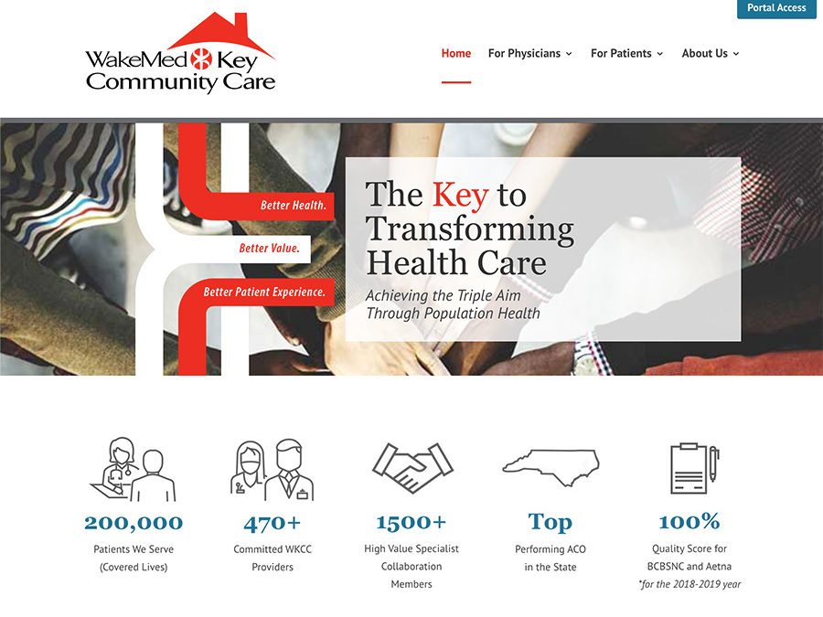 WakeMed Key Community Care Website